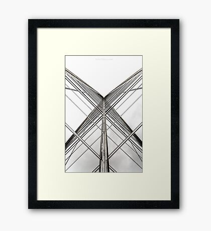 Glass Lines Framed Print