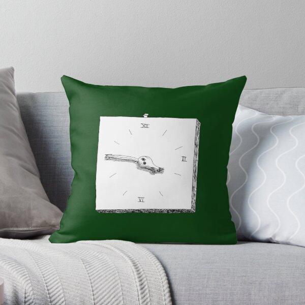 Bird Clock Throw Pillow