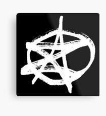 AZ signature Logo White Metal Print