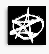 AZ signature Logo White Canvas Print