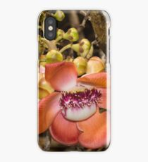 Unique Cannonball Tree Tropical Flower iPhone Case/Skin