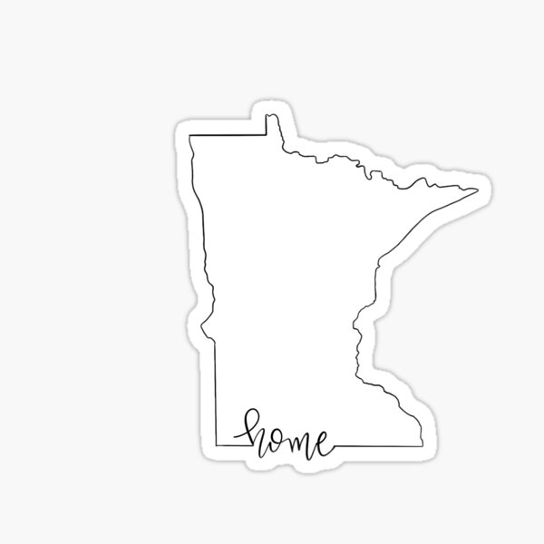 Minnesota Home Outline Sticker