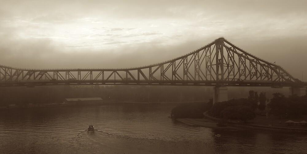 Story Bridge on a foggy morning by Daragh Mc Grath
