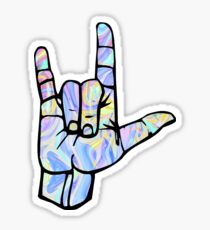 I love you rock on Sticker