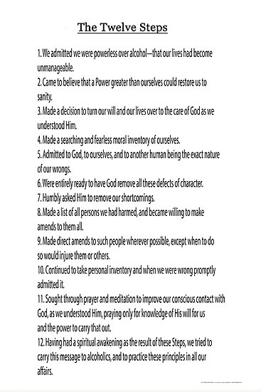 The 12 Steps (12 Traditions also Available see link in Artists Notes Below) by Delights