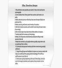 Die 12 Schritte (12 Traditionen auch verfügbar siehe Link in den Künstler-Anmerkungen unten) Poster