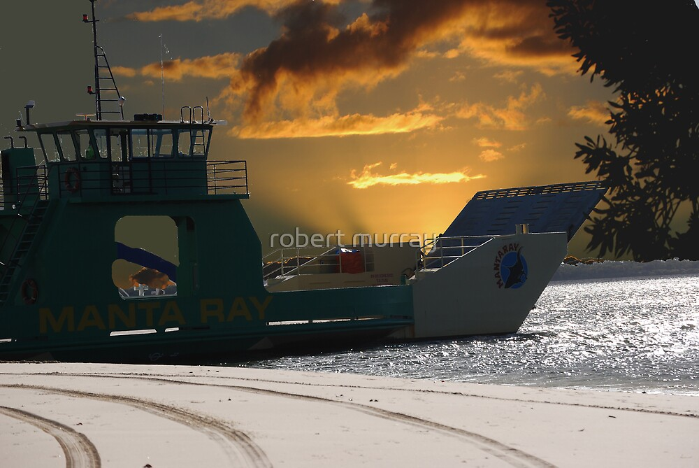 As the sun goes down on Frazer Island Qld by robert murray