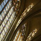 Glorious Light - Sainte-Chapelle de Vincennes, Château de Vincennes, Paris, France by Georgia Mizuleva