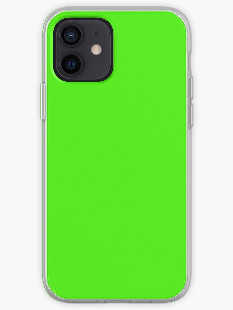 Vert fluo uni de couleur unie | Coque iPhone