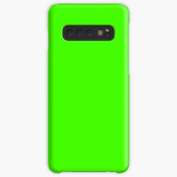 PLAIN SOLID COLOR NEON FLUROESCENT GREEN  Samsung Galaxy Snap Case