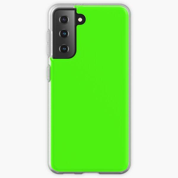 PLAIN SOLID COLOR NEON FLUROESCENT GREEN  Samsung Galaxy Soft Case