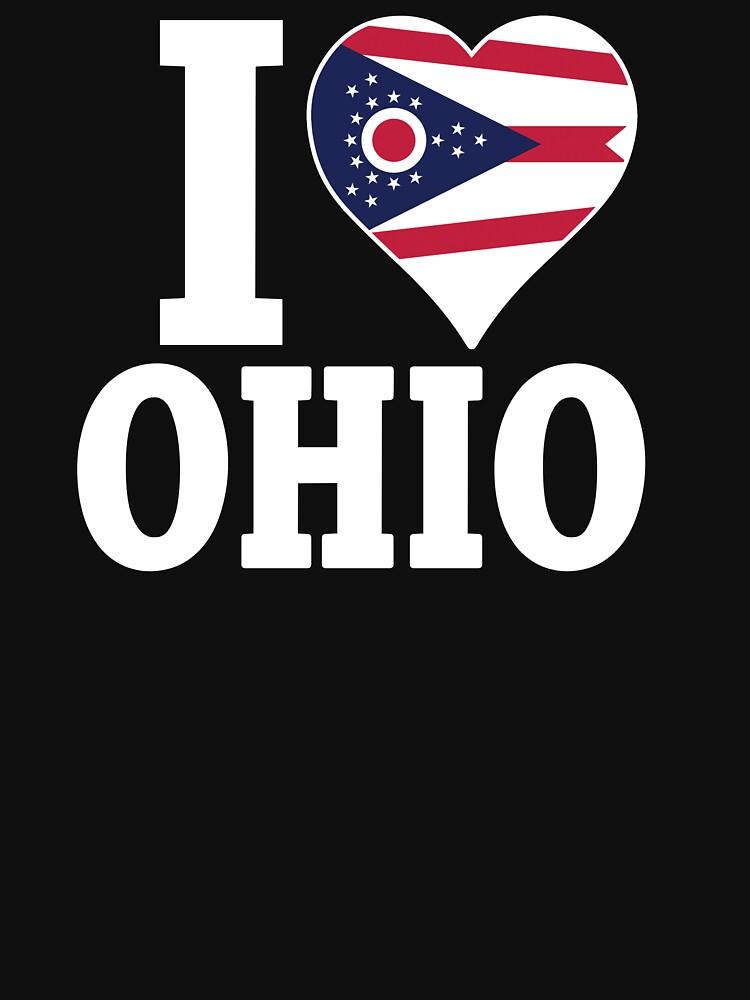 I love Ohio flag t-shirt by mamatgaye
