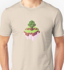 Minecraft Simple Floating Island - Isometric T-Shirt
