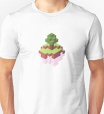 Minecraft Simple Floating Island - Isometric Unisex T-Shirt