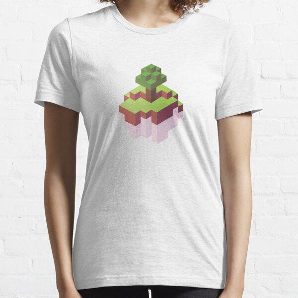 Minecraft Simple Floating Island - Isometric Essential T-Shirt