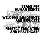 Menschenrechtszitat protestieren politisch von futureculture