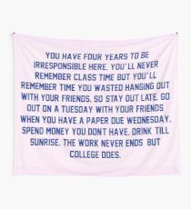 College. Wall Tapestry