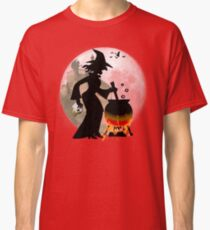 Halloween - Funny Spooky Scary Witch Party T-shirt Classic T-Shirt