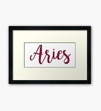 Aries Framed Print