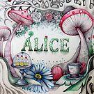 alice in the woods name sketch  by melaniedann
