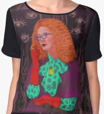 MYRTLE SNOW/ BURN THE WITCH Chiffon Top