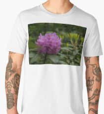 Bright Pink Azalea, Gently Swaying in the Rain  Men's Premium T-Shirt