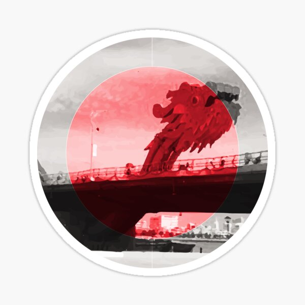 The Dragon Bridge Da Nang Symbol Vietnam Sticker
