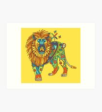 Lion, from the AlphaPod collection Art Print