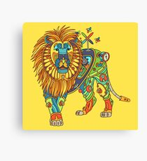 Lion, from the AlphaPod collection Canvas Print