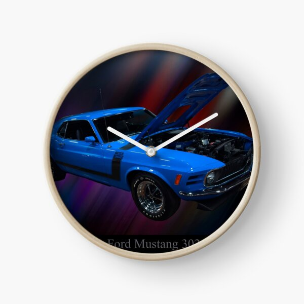 1970 Ford Boss 302 Mustang Clock