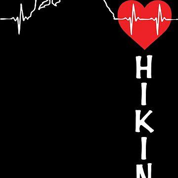 I Love Hiking - Hiking Heartbeat by BCreative4U