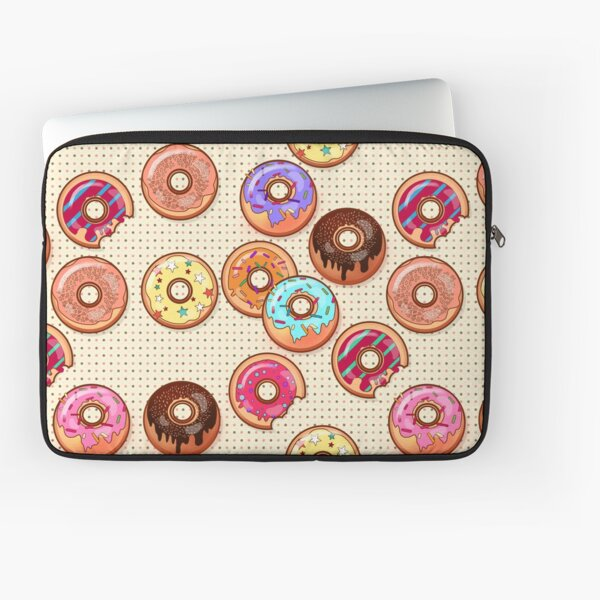 I Love Donuts Yummy Baked Goodies Sugary Sweet Laptop Sleeve