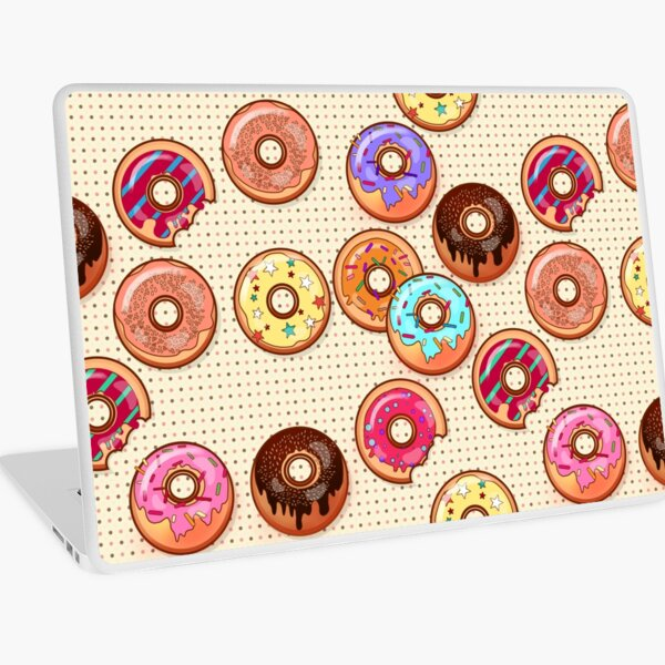 I Love Donuts Yummy Baked Goodies Sugary Sweet Laptop Skin