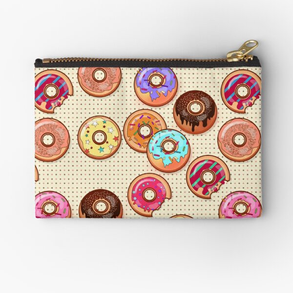 I Love Donuts Yummy Baked Goodies Sugary Sweet Zipper Pouch