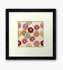 I Love Donuts Yummy Baked Goodies Sugary Sweet Framed Print