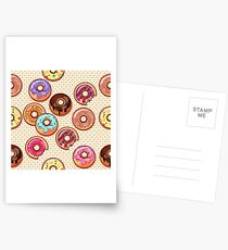 I Love Donuts Yummy Baked Goodies Sugary Sweet Postcards