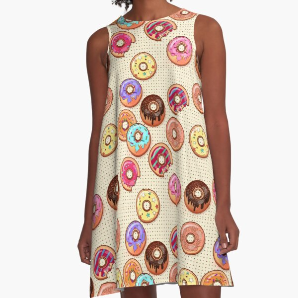 I Love Donuts Yummy Baked Goodies Sugary Sweet A-Line Dress