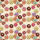 I Love Donuts Yummy Baked Goodies Sugary Sweet by Beverly Claire Kaiya