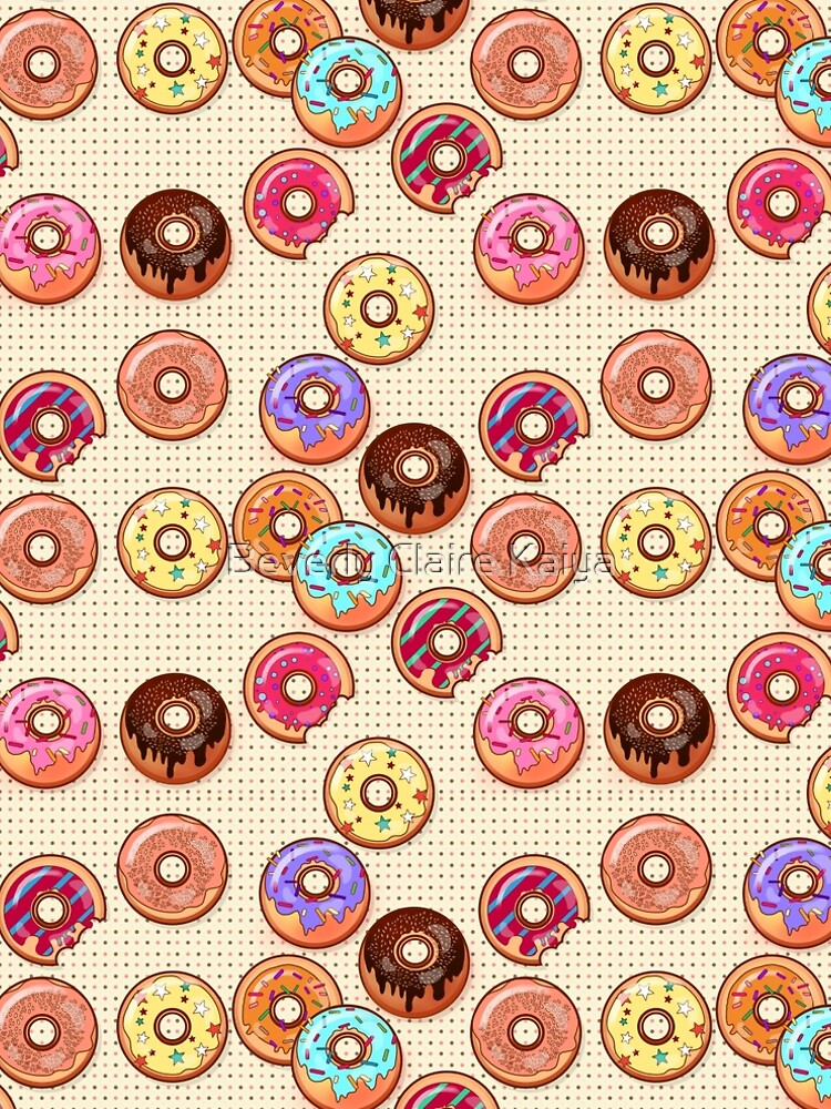 I Love Donuts Yummy Baked Goodies Sugary Sweet by beverlyclaire