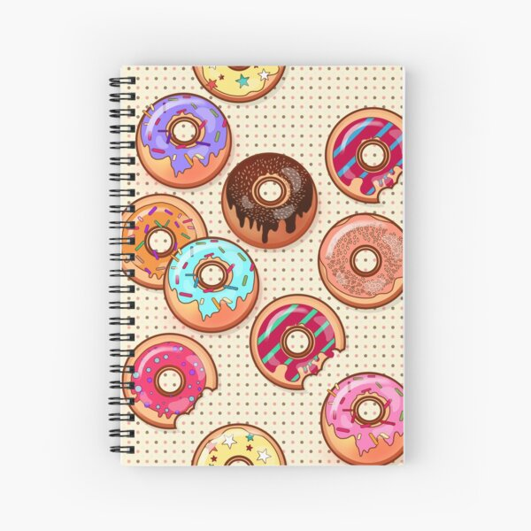 I Love Donuts Yummy Baked Goodies Sugary Sweet Spiral Notebook