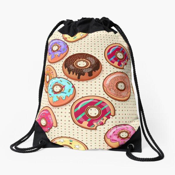 I Love Donuts Yummy Baked Goodies Sugary Sweet Drawstring Bag