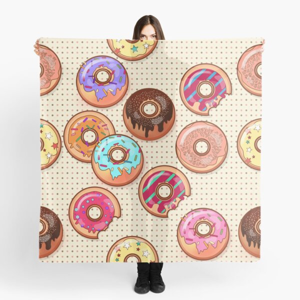 I Love Donuts Yummy Baked Goodies Sugary Sweet Scarf