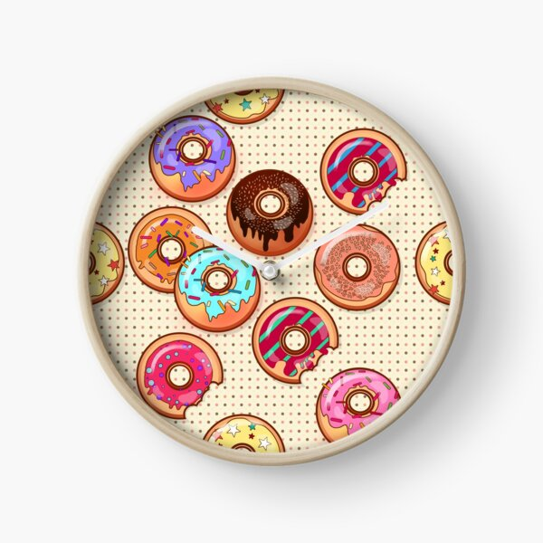 I Love Donuts Yummy Baked Goodies Sugary Sweet Clock