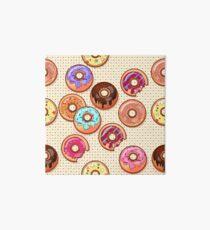 I Love Donuts Yummy Baked Goodies Sugary Sweet Art Board