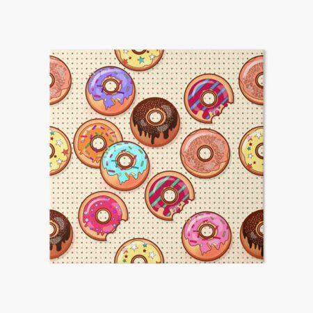I Love Donuts Yummy Baked Goodies Sugary Sweet Art Board Print