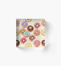 I Love Donuts Yummy Baked Goodies Sugary Sweet Acrylic Block