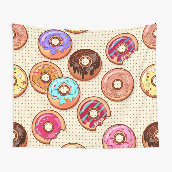 I Love Donuts Yummy Baked Goodies Sugary Sweet Tapestry