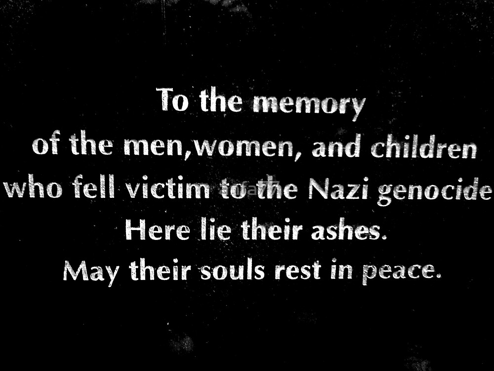 Another memorial stone at Birkenau by anfa77