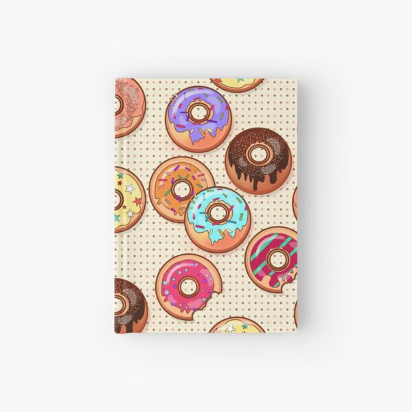 I Love Donuts Yummy Baked Goodies Sugary Sweet Hardcover Journal