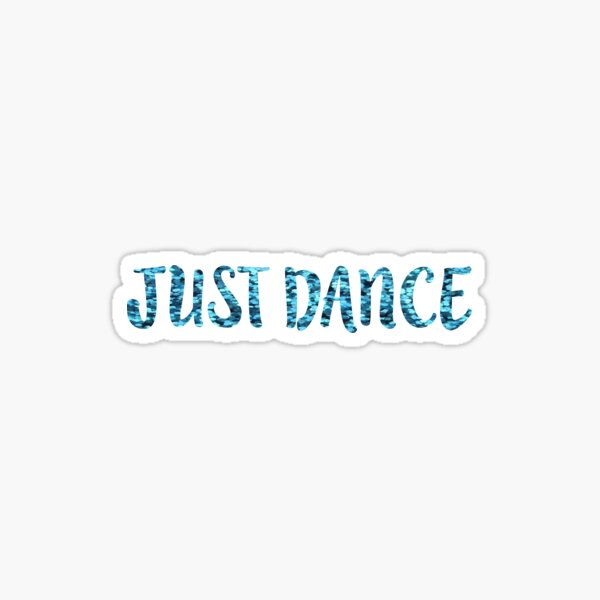 Just Dance Teal Glitter Sticker
